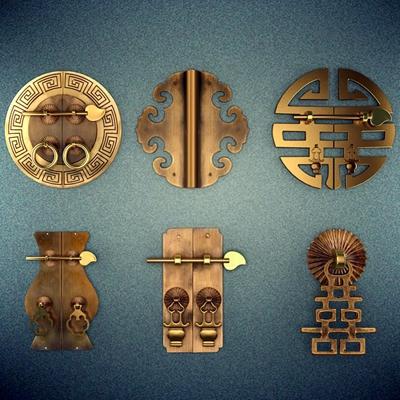 锁具把手组合3D模型【ID:828127465】