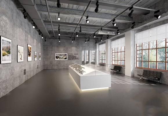 工业风展厅3D模型【ID:320011546】