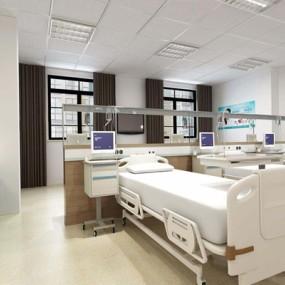 医院病房3D模型【ID:928180651】