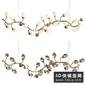 現代吊燈国外3D模型【ID:829323727】