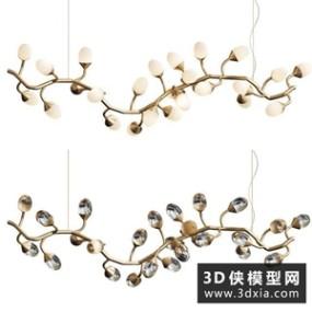 现代吊灯国外3D模型【ID:829323727】