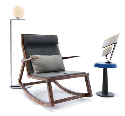 現代單人沙發躺椅3D模型【ID:227887606】