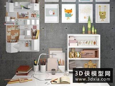 北欧桌面装饰品国外3D模型【ID:929517089】