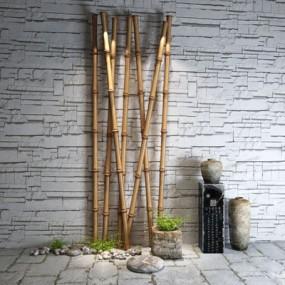 竹子陶瓷罐摆件3D模型【ID:928184116】