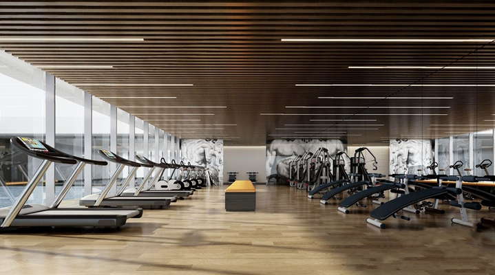 现代健身房3D模型【ID:927972623】