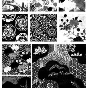 凹凸黑白-黑白古典 1652【ID:536968754】