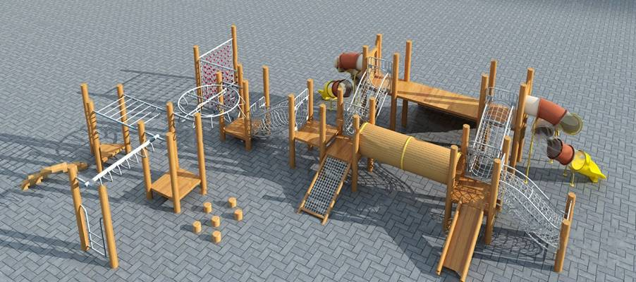 健身器材3D模型【ID:620018085】