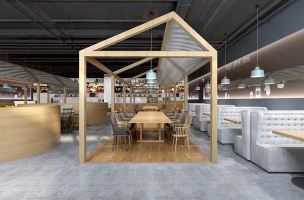 loft餐厅咖啡店3D模型【ID:128012022】