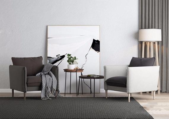 北欧单人沙发3D模型【ID:928176604】