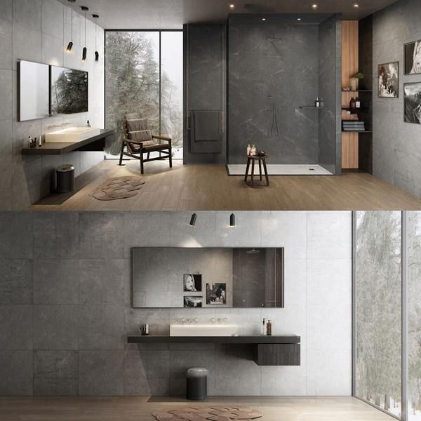 北歐衛生間浴室3D模型【ID:546209577】