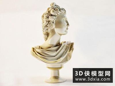 石膏头像国外3D模型【ID:929586713】