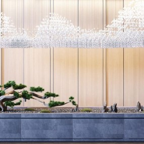 新中式古松园林小景3D模型【ID:328240862】