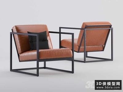 现代休闲椅国外3D模型【ID:729327867】