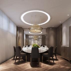 新中式餐厅3D模型【ID:528011513】