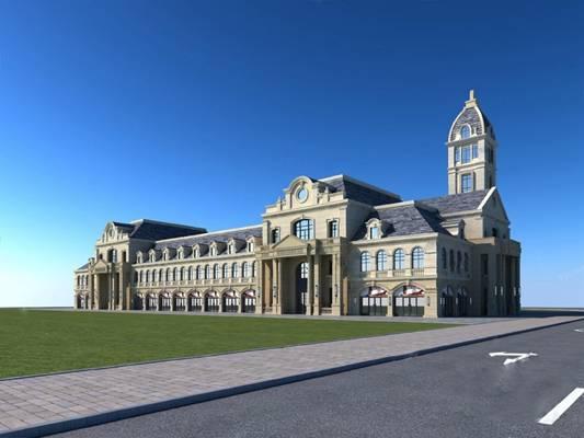 欧式建筑3D模型【ID:320013552】