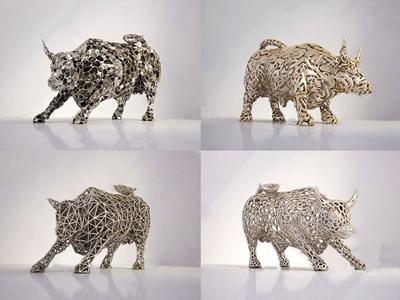 现代公牛摆设3d模型【ID:928357169】