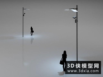 路灯国外3D模型【ID:929817280】