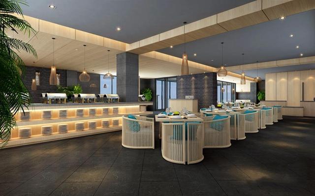 新中式餐厅3D模型【ID:528274523】