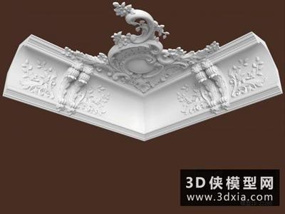 欧式线条国外3D模型【ID:929429609】