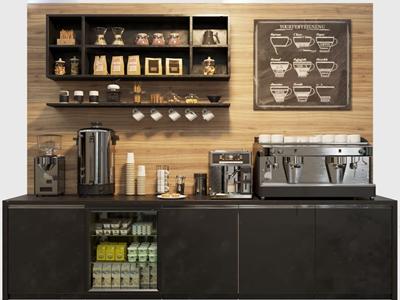 现代咖啡机操作台3D模型【ID:650470441】