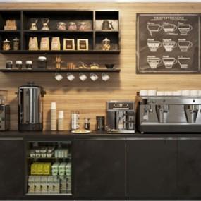 现代咖啡机操作台3d模型【ID:650470483】