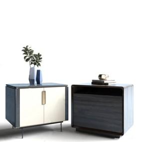现代床头柜组合3D模型【ID:732401429】