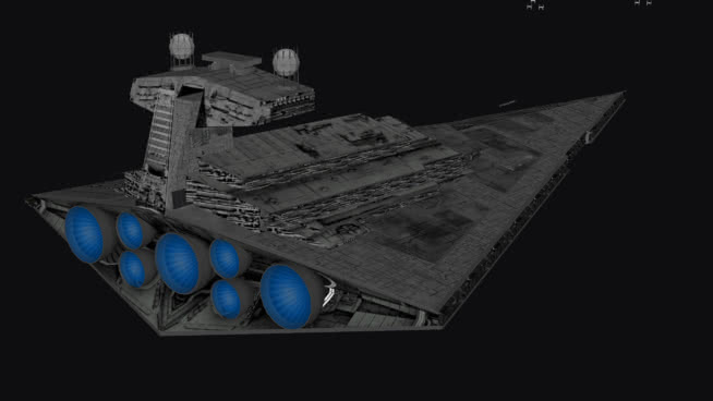 星球大戰-帝國I級星際驅逐艦SU模型【ID:840283454】