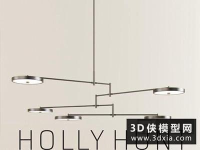 現代金屬吊燈國外3D模型【ID:829735748】