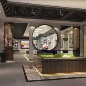 中式展厅3D模型【ID:724891603】