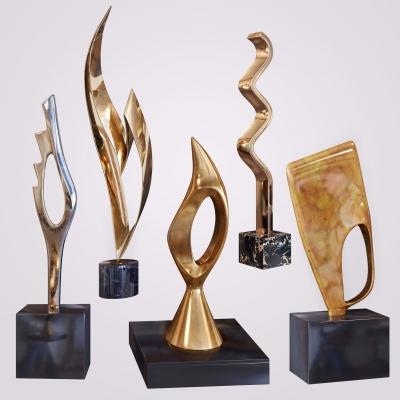 现代金属雕塑摆件3D模型【ID:327794879】