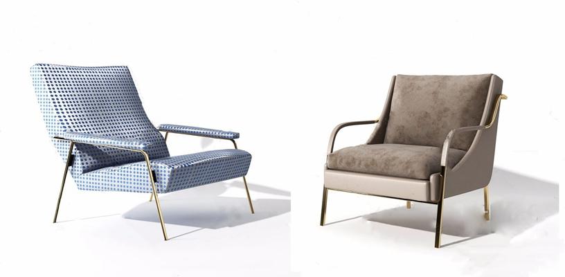 现代休闲躺椅3D模型【ID:228238655】