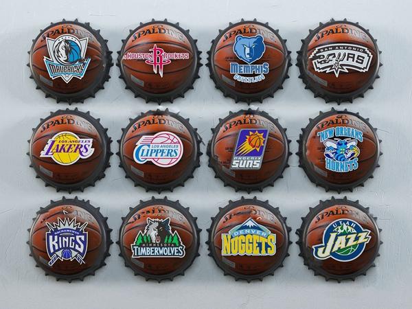 工业风瓶盖篮球墙饰挂件3d模型