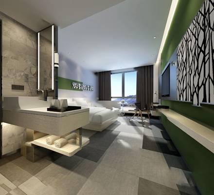 现代客房3D模型【ID:320613621】