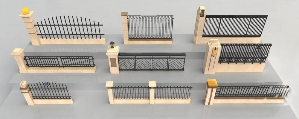 现代围墙3D模型【ID:326231562】