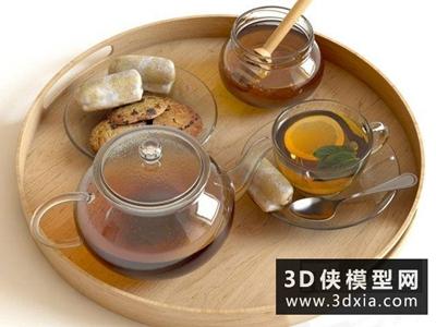 檸檬蜂蜜茶國外3D模型【ID:929402527】