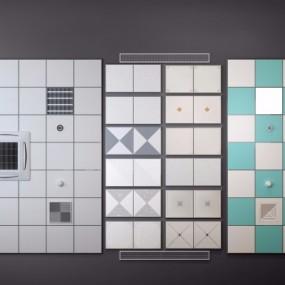现代空调天花机铝扣板组合D模型3D模型【ID:728468720】