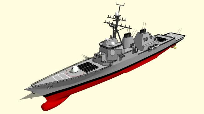 菲茨杰拉德號驅逐艦DDG-62SU模型【ID:840289424】