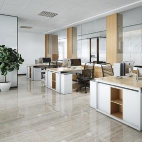 现代办公室综合办公区3D模型【ID:428441256】
