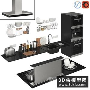 廚房用品電器模型組合國外3D模型【ID:129323360】