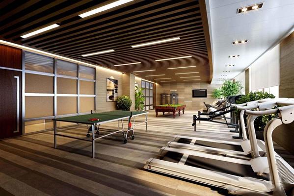 现代健身房3D模型【ID:928336606】