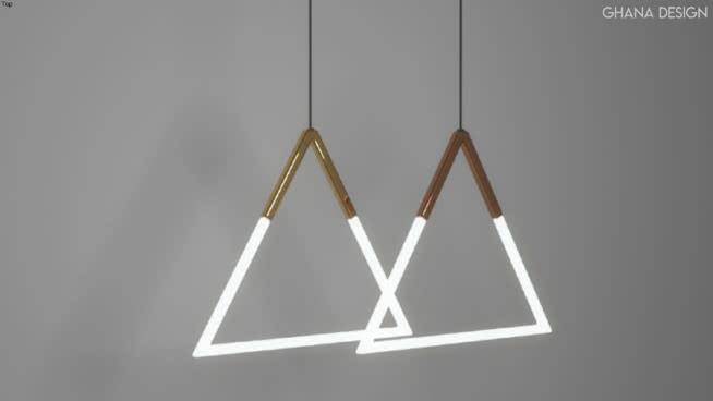 三角吊燈SU模型【ID:940293918】