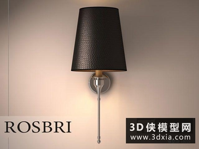 現代壁燈国外3D模型【ID:829597850】