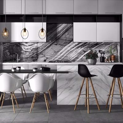 现代大理石厨房厨柜3D模型【ID:728470307】
