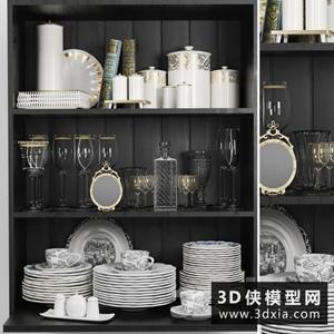 廚房裝飾國外3D模型【ID:929326942】