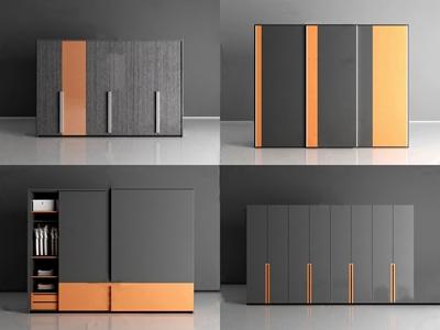 现代实木衣柜3D模型【ID:931407978】