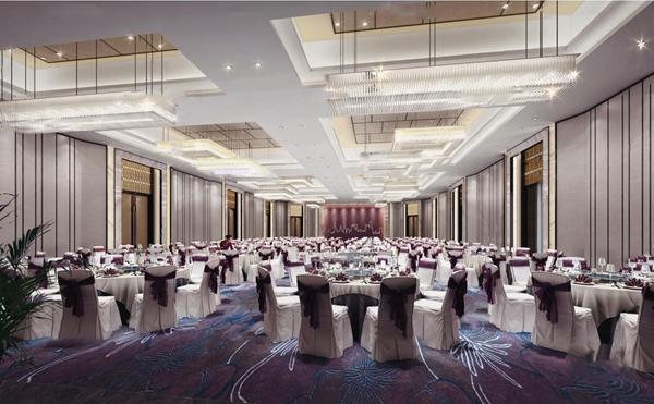 新中式宴會廳3D模型【ID:745862552】