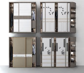 现代衣柜3D模型【ID:141710496】