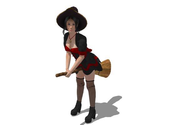 3D女人物SU模型【ID:147335734】
