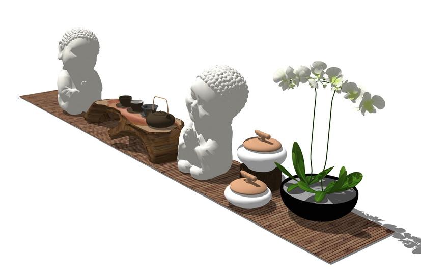 茶具SU模型【ID:636919412】