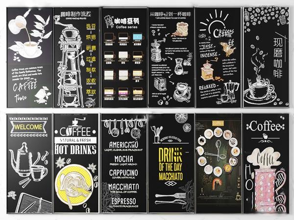 工业风餐厅咖啡厅黑板挂画3d模型